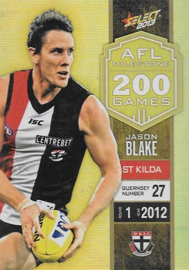 Jason Blake, 200 Game Milestone, 2013 Select AFL Champions