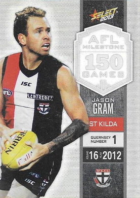 Jason Gram, 150 Game Milestone, 2013 Select AFL Champions
