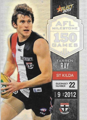 Farren Ray, 150 Game Milestone, 2013 Select AFL Champions