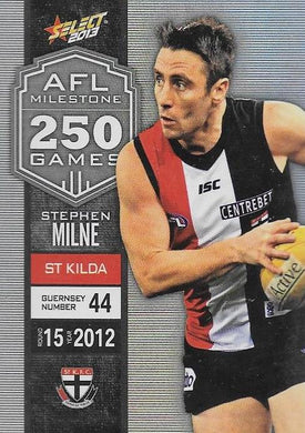 Stephen Milne, 250 Game Milestone, 2013 Select AFL Champions