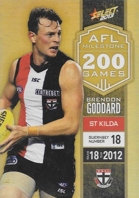 Brendon Goddard, 200 Game Milestone, 2013 Select AFL Champions