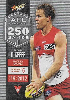 Ryan O'Keefe, 250 Game Milestone, 2013 Select AFL Champions