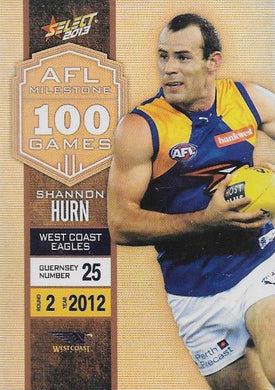 Shannon Hurn, 100 Game Milestone, 2013 Select AFL Champions