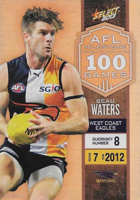 Beau Waters, 100 Game Milestone, 2013 Select AFL Champions