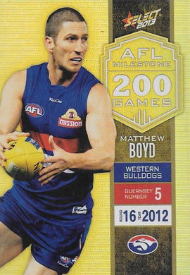 Matthew Boyd, 200 Game Milestone, 2013 Select AFL Champions