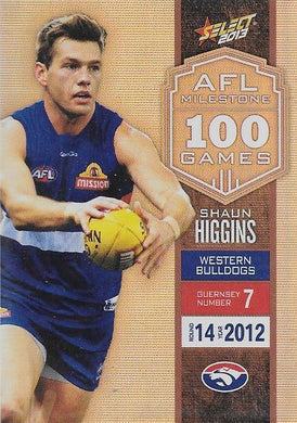 Shaun Higgins, 100 Game Milestone, 2013 Select AFL Champions