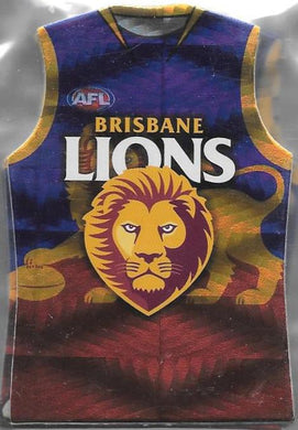 Brisbane Lions, Holofoil Guernsey Die-cut Team Set, 2010 Select AFL Prestige