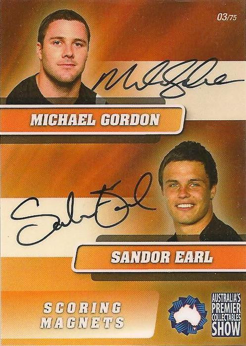 Michael Gordon & Sandor Earl, Scoring Magnets, Dual Signature, 2011 APCS