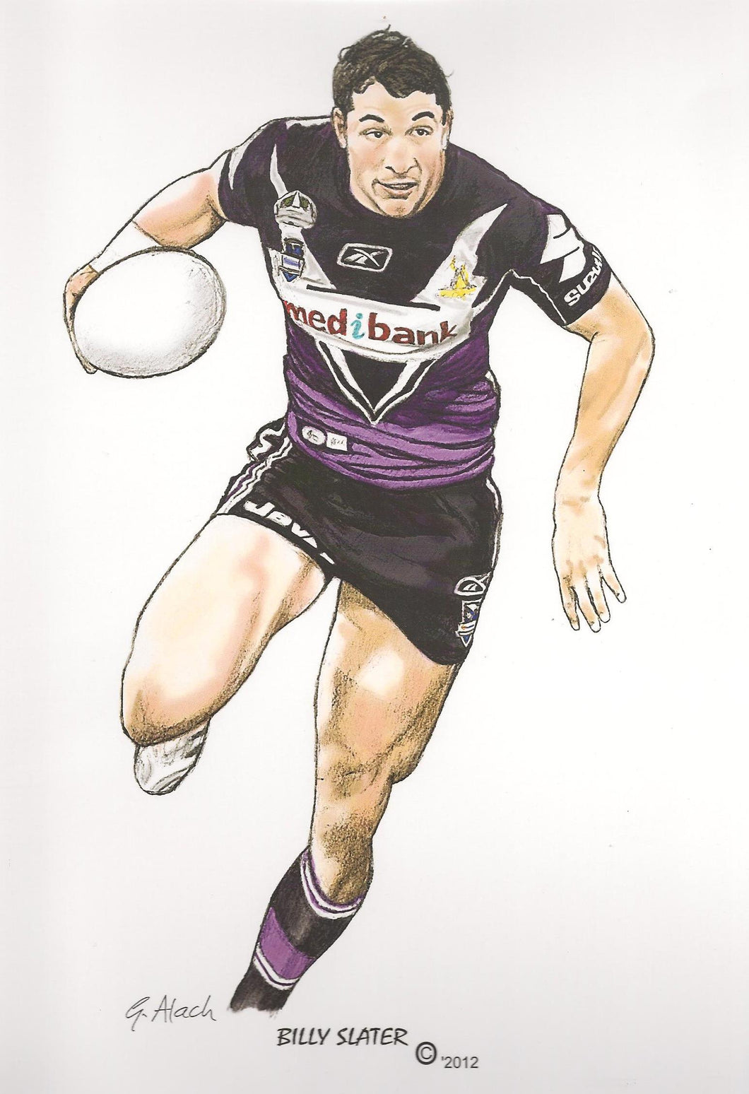 Billy Slater, GregsArt A4 Print