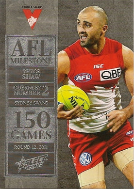 Rhyce Shaw, 150 Game Milestone, 2012 Select AFL Champions