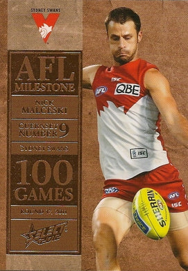 Nick Malceski, 100 Game Milestone, 2012 Select AFL Champions