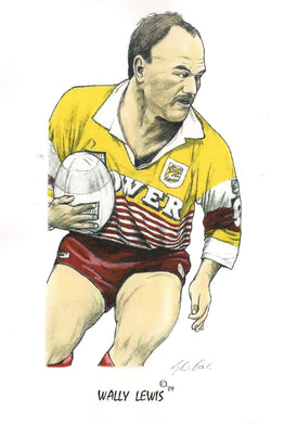 Wally Lewis, GregsArt A4 Print