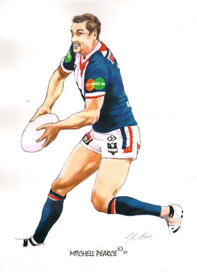 Mitchell Pearce, GregsArt A4 Print