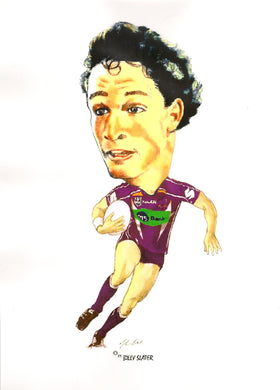 Billy Slater, Big Head, GregsArt A4 Print