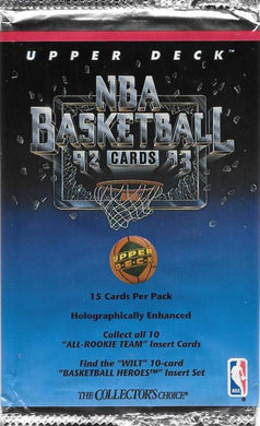1992-93 Upper Deck Low Series Basketball NBA Pack