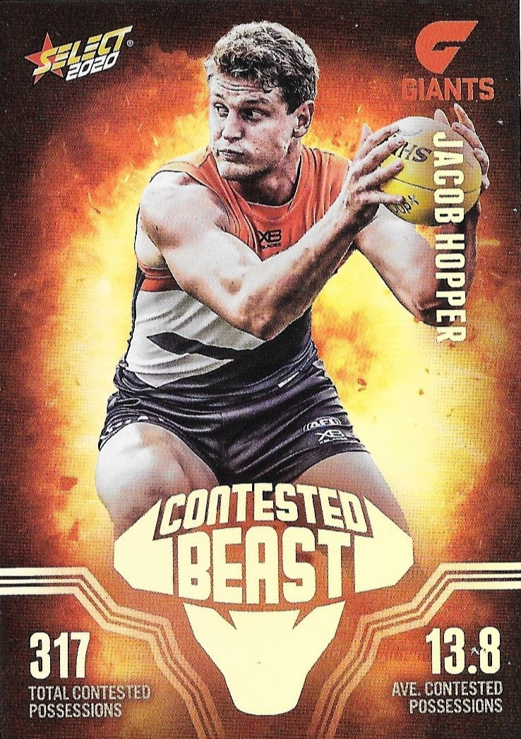 Jacob Hopper, Contested Beasts, 2020 Select AFL Footy Stars