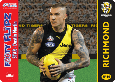 Dustin Martin & Michael Roach, Footy Flipz, 2019 Teamcoach AFL
