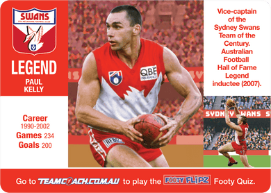 Sydney Swans, Footy Flipz, 2018 Teamcoach AFL