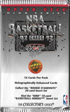 1992-93 Upper Deck High Series Basketball NBA Pack