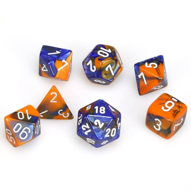 CHX 26452 Gemini Blue Orange/White 7-Die Set