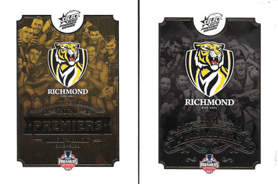 COMBO: 2019 & 2020 Select Richmond Tigers Premiers card sets
