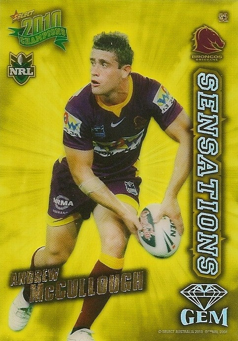 Andrew McCullough, Sensations Gem, 2010 Select NRL Champions