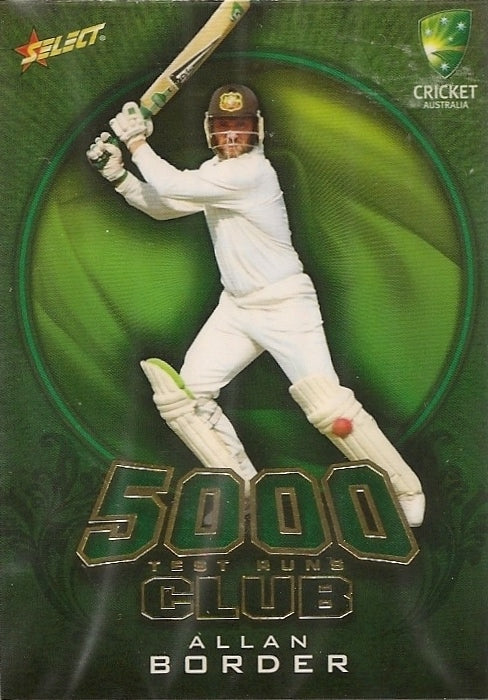Allan Border, 5000 Test Run Club, 2009-10 Select Cricket