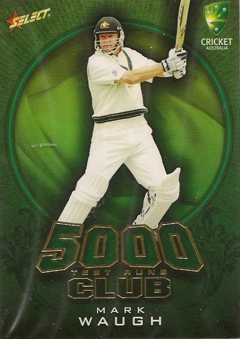 Mark Waugh, 5000 Test Run Club, 2009-10 Select Cricket