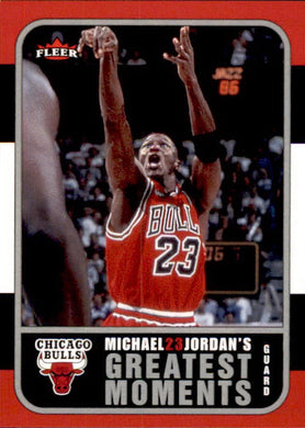 Michael Jordan, Greatest Moments, MJ10, 2006-07 Fleer Basketball NBA