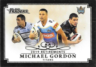 Michael Gordon, Retirements, 2020 TLA Traders NRL