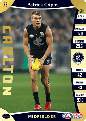 Patrick Cripps, Gold, 2019 Teamcoach AFL