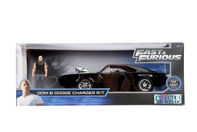 Fast & Furious - 1970 Dodge Charger 1:24 Scale Diecast with Dom Hollywood Ride