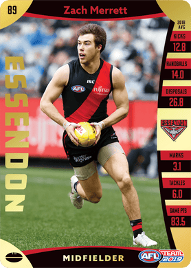 Zach Merrett, Gold, 2019 Teamcoach AFL