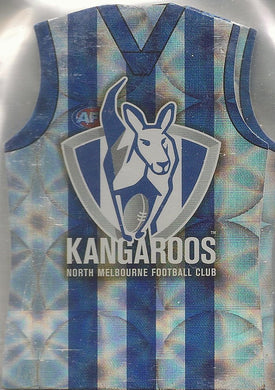 North Melbourne Kangaroos, Guernsey Die-cut Team Set, 2009 Select AFL Pinnacle