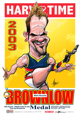 Mark Ricciuto, Brownlow Medallist, Harv Time Poster