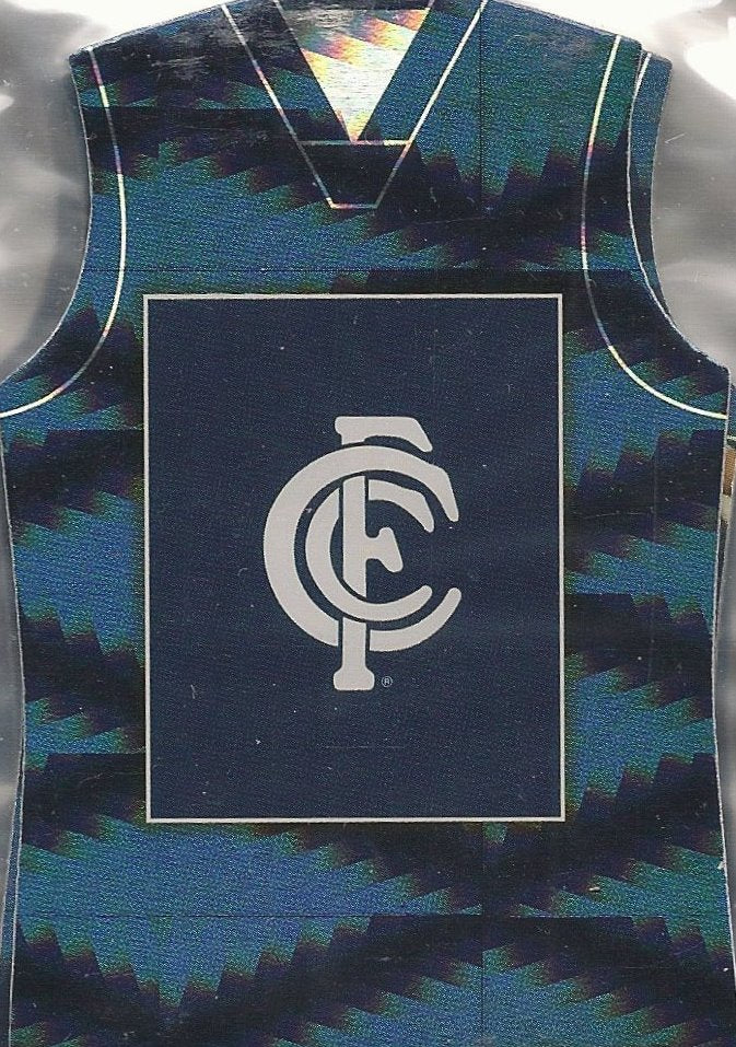 Carlton Blues, Holofoil Guernsey Die-cut Team Set, 2010 Select AFL Prestige