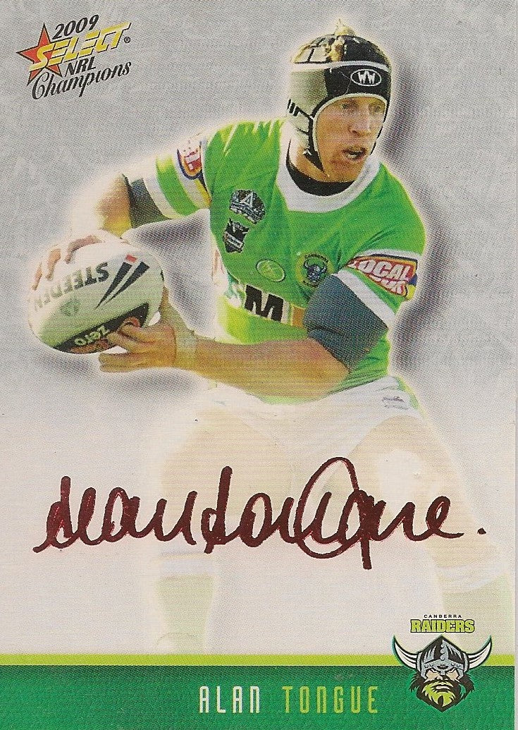 Alan Tongue, Red Foil Signature, 2009 Select NRL Champions