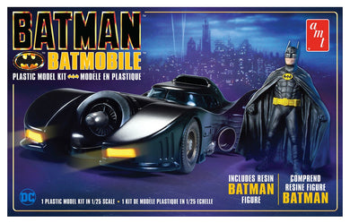1989 Batman Batmobile with Resin Batman Figure Plastic Kit, 1:25 Scale Model Kit