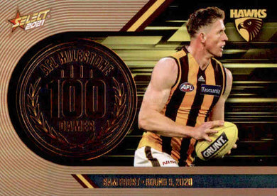 Sam Frost, 100 Games Milestone, 2021 Select AFL Footy Stars