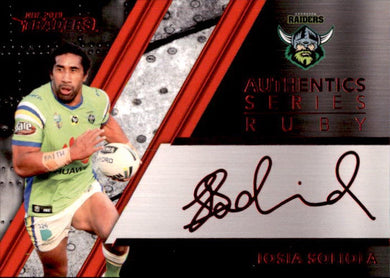 Iosia Soliola, Red Signature, 2019 TLA/ESP Traders NRL