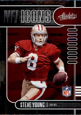 Steve Young, NFL Icons, 2019 Panini Absolute Football NFL