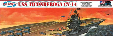 USS Ticonderoga Carrier CV14 Angled Deck Plastic Kit, 1:500 Scale Model Kit