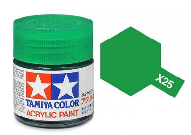 TAMIYA ACRYLIC MINI X-25 CLEAR GREEN 10ml