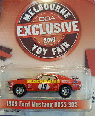1969 Ford Mustang Boss 302, #19, Melboune Toy Fair Exclusive, 1:64 Diecast Vehicle