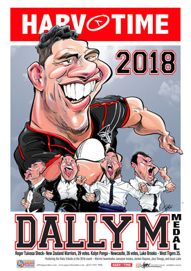 Roger Tuivasa-Sheck, 2018 Dally M, Harv Time Poster