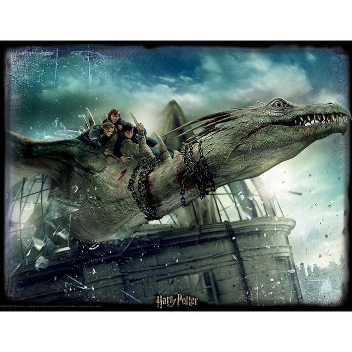 Harry Potter, NORBET THE DRAGON, Prime 3D Lenticular Puzzle, 300 Piece Jigsaw Puzzle