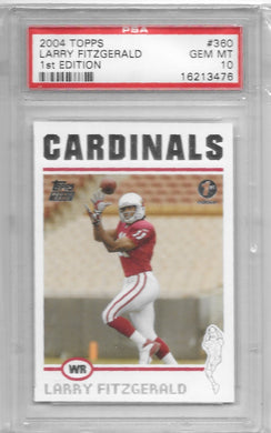 Larry Fitzgerald, RC, 2004 Topps 1st Edition Football NFL, PSA 10