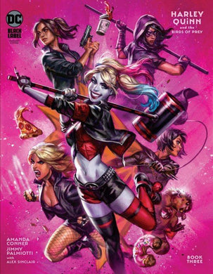 Harley Quinn and the Birds of Prey, Book Three Variant Comic, Black Label
