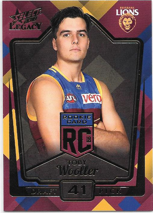 Toby Wooler, Rookies RC, 2018 Select AFL Legacy