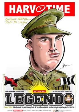 William Dunstan, 6th Victoria Cross Medal Recipient, Harv Time Poster